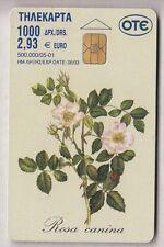 EUROPE  TELECARTE / PHONECARD .. GRECE 2€93 FLEUR FLOWER ROSE 05/01 CHIP/PUCE