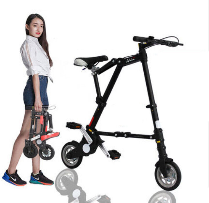 Folding Bike 8  Mini Aluminum Alloy Travel Lightweight Portable Foldable Bicycle