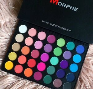 Morphe Brushes 35b 35 Color Glam Eye Shadow Palette 100 Genuine Ebay