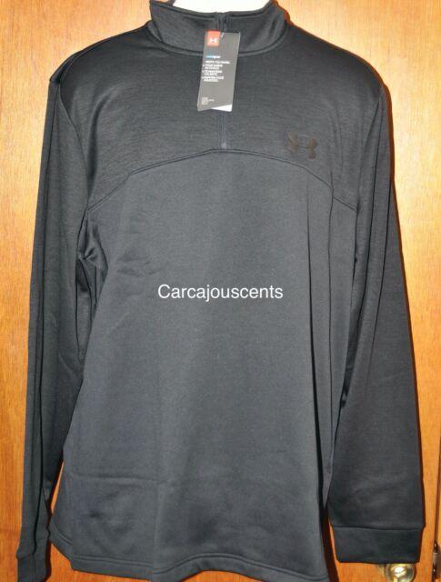 Men/'s Under Armour Tech 1//4 Zip Longsleeve Shirt  Gray /& Green  Choose your Size