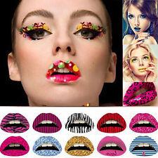 New Women Lip Art Temporary Tattoos Lipstick Transfer Sticker  Violence Cosplay