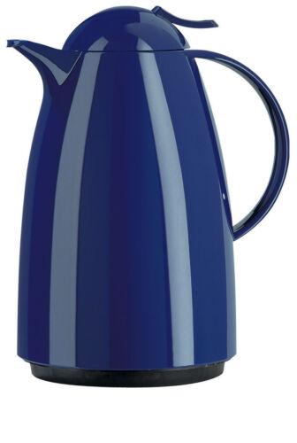 Emsa AUBERGE Isolierkanne Thermoskanne Isokanne Kaffeekanne,Teekanne blau 1,5 L