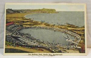 Scarborough-VINTAGE-Postcard-Bathing-Pool-South-Bay