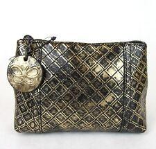 New Auth BOTTEGA VENETA Intrecciomirage Leather Mini Clutch Pouch, 301195 8414