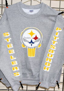 9c3a7e246 Image is loading Pittsburgh-Steelers-PUNISHER-GRAY-Sweatshirt-S-M-L-XL-2XL-