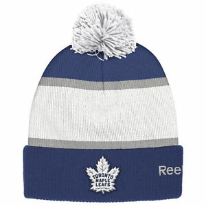 TORONTO MAPLE LEAFS 2017 NHL CENTENNIAL CLASSIC REEBOK CUFFED POM KNIT HAT TOQUE
