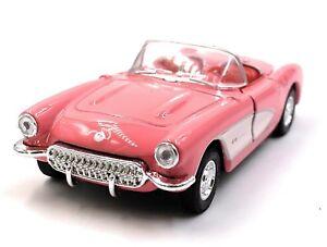 1957-Chevrolet-Corvette-Cabriolet-Pink-Model-Car-Car-Scale-1-3-4-Licensed