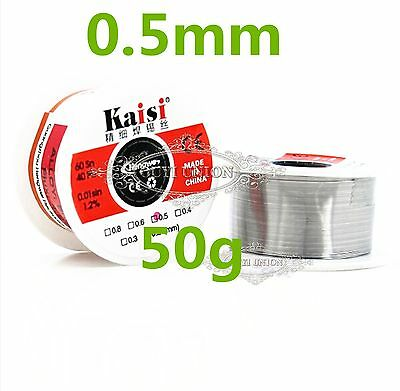 Tin/lead 60/40 0.5mm 50g eriksson incense core wire soldering iron roll 1~100pcs