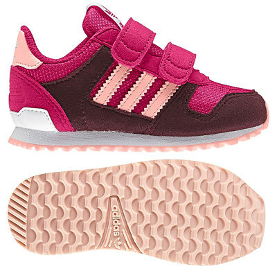 newest d5413 d97aa Adidas Originals Infant Girls Zx Flux Trainers Pink Aubergine New and Boxed