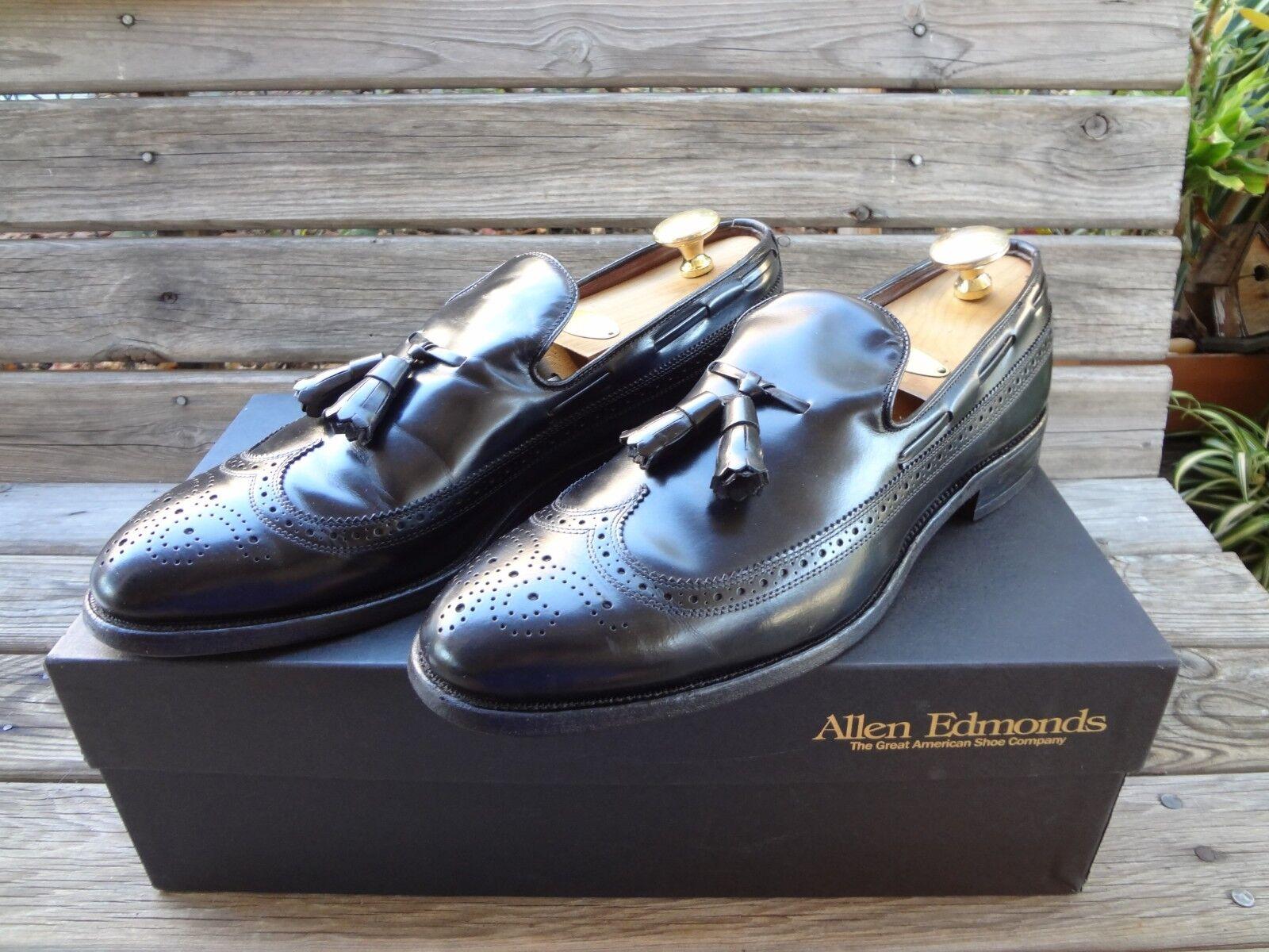 ti renderà soddisfatto Allen Edmonds Berwick nero Leather Wingtip Tassel Loafers scarpe Uomo Uomo Uomo Dimensione 9.5 B  vendita online