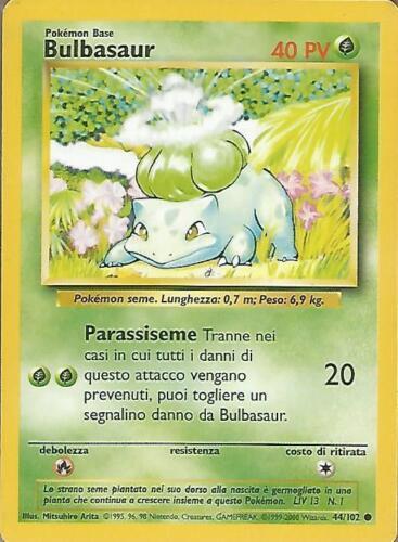 ITALIANO POKEMON Bulbasaur Unlimited Set Base 44//102