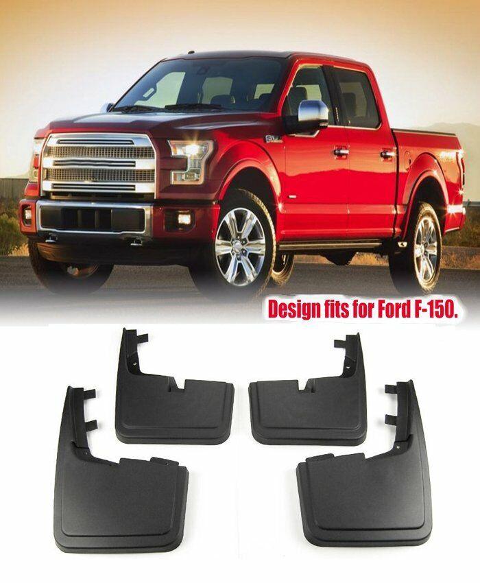 15 thru 18 F-150 Genuine Ford Molded Splash Guards Mud Flaps WITHOUT Wheel Lips