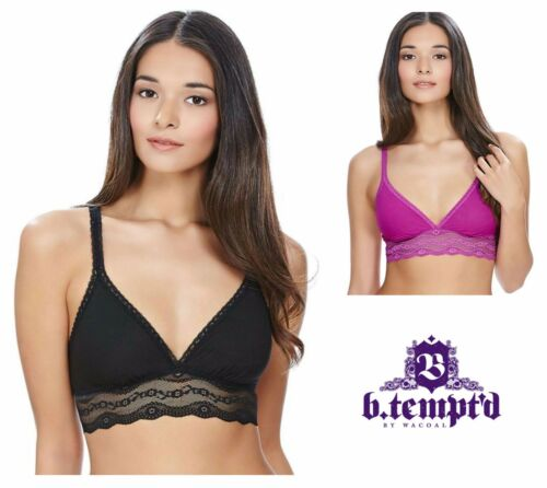 B.tempt/'d B.Adorable Bralette Bra Top 935182 Night Black or Wild Aster Purple