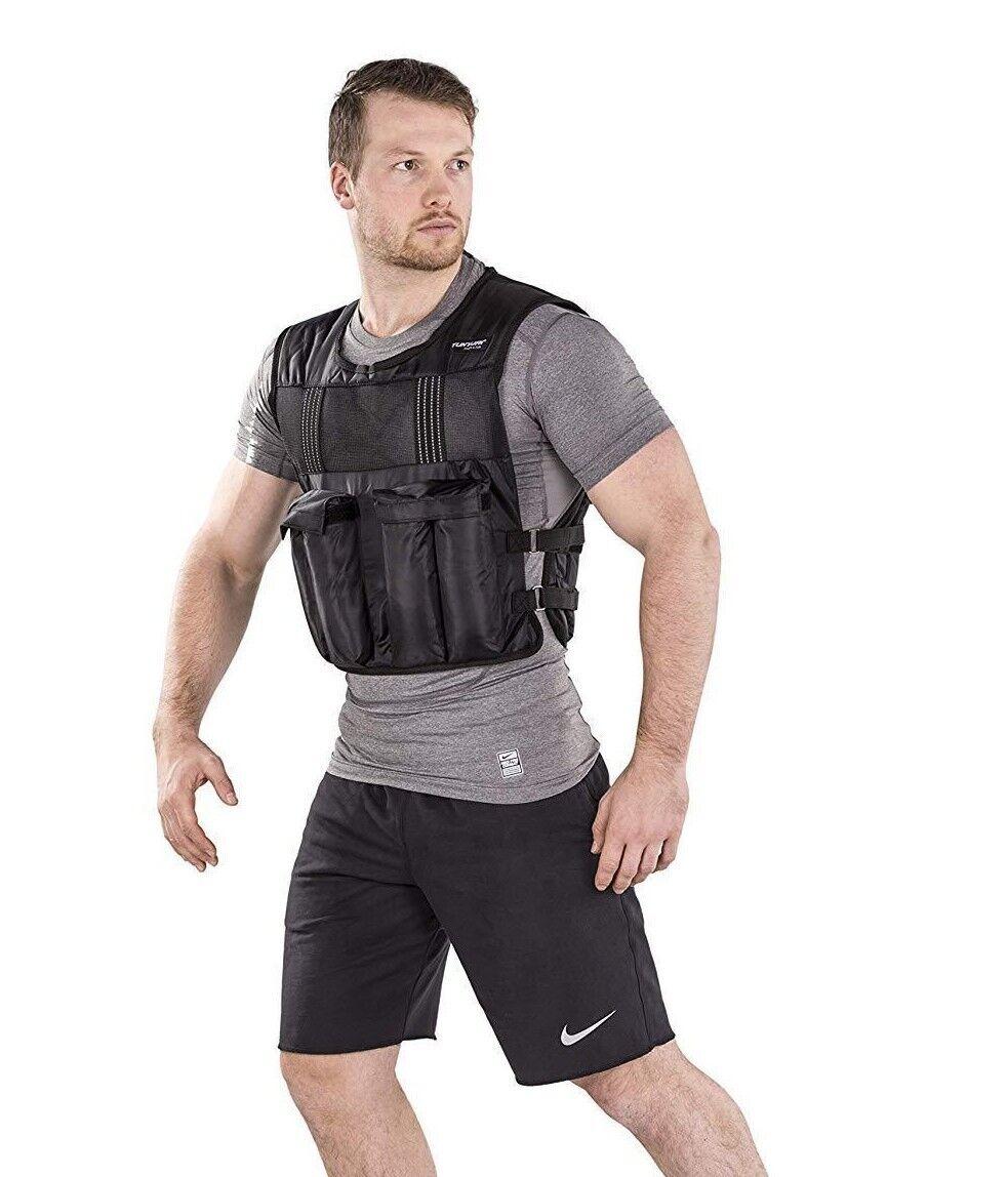 Tunturi Adjustable Weighted Vented Vest 15kg Fitness Training Weight Shirt