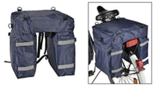 Bicicleta Alforja equipaje bolsa de nylon bicicleta rueda bolsa doble pack bolsa