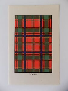 Vintage Print MUNRO TARTAN c1950s 92 - <span itemprop=availableAtOrFrom>Stratford-upon-Avon, United Kingdom</span> - Returns accepted within 14 days please email first so we can resolve any issue. Most purchases from business sellers are protected by the Consumer Contract Regulations 2013 wh - Stratford-upon-Avon, United Kingdom