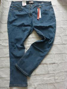 Sheego-Jeans-Trousers-Stretch-Ladies-Size-44-to-52-Blue-Denim-plus-851-161-K
