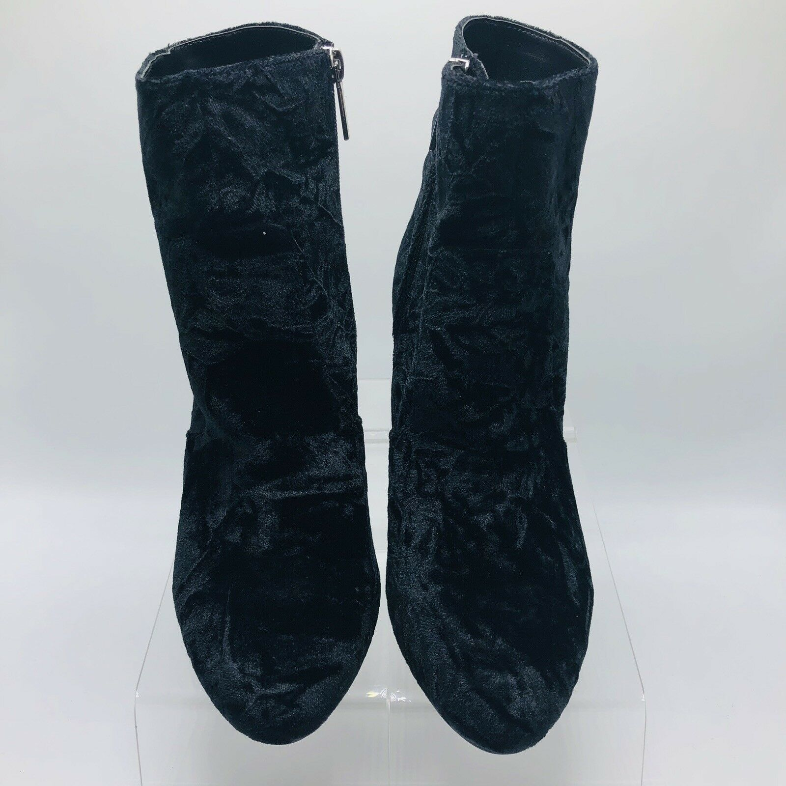Wendy Williams Womens Boots Velvet Black Suede Crush Size 9 (S)