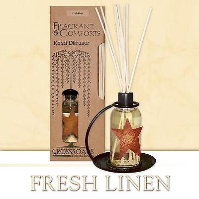 Fresh Linen Fragrance Scented Reed Diffuser Crossroads Original Designs New NIP