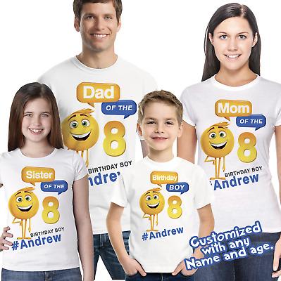 T-shirt Emoji Birthday Shirt Emoji Shirt Personalized t-shirt Emoji