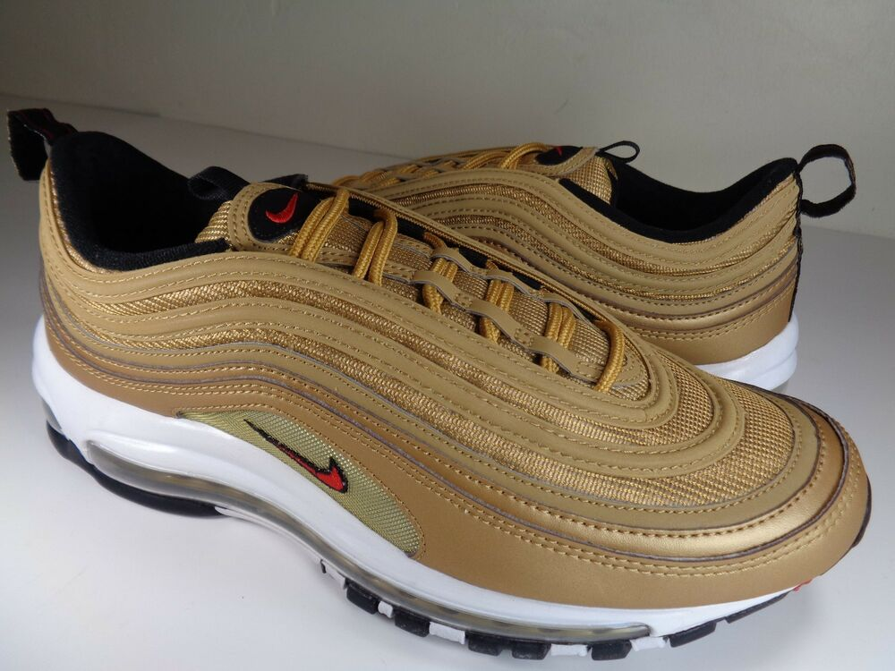 Nike Air Max 97 OG QS Metallic Gold University rouge blanc SZ 12 (884421-700)