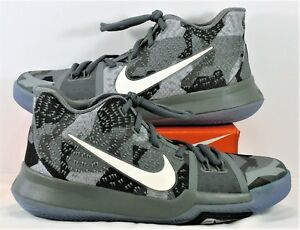 1d85d64b9a5f Nike Kyrie 3 III GS Girls EYBL Dark Wolf Grey   Black Sz 6Y NEW ...