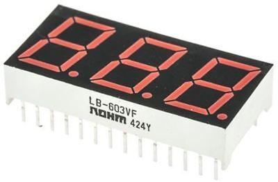 Rohm LB-602VA2 2 cifre 7-Segment Display a LED CA Rosso 16 MCD RH DP 14.2mm