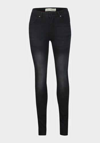 womens new look black stone washed denim 5 pocket zip fastening skinny jeans