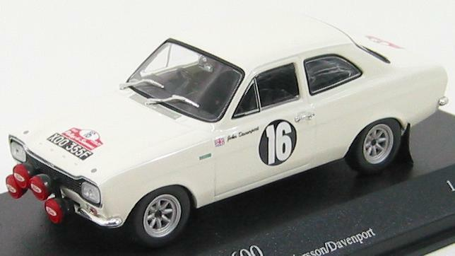 Scale model , FORD ESCORT I TC-ANDERSSON DAVENPORT-WINNERS RALLYE SAN REMO