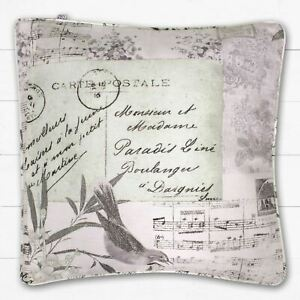 Catherine-Lansfield-Cartolina-Vintage-riempito-cuscino-naturale-45-x-45-cm