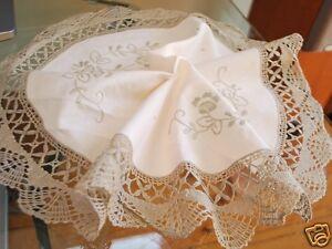 Delicate-Hand-Bobbin-Lace-Embroidery-Cotton-Doily-40cm