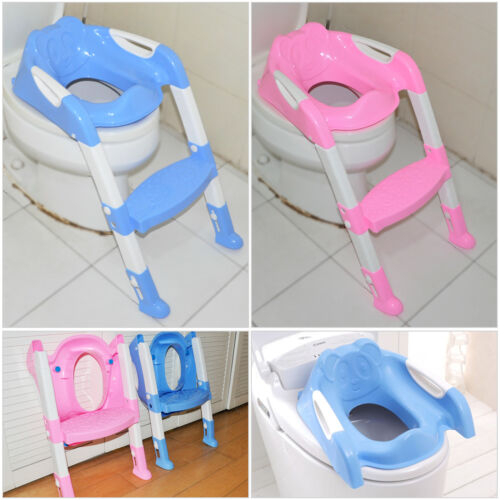 Baby Toddler Potty Safety Training Toilet Seat Chair Step w// Adjustable Ladder