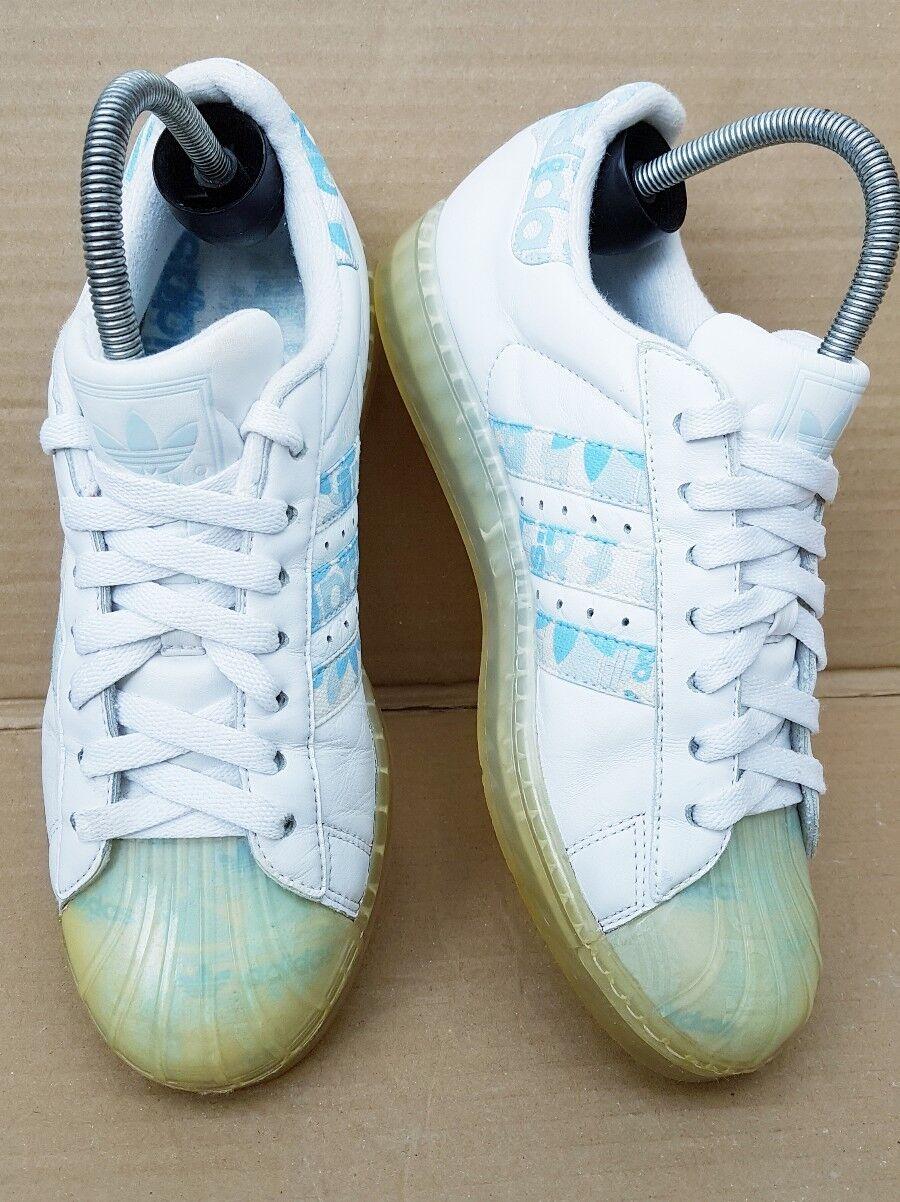 Adidas Superstar CLR W Baskets bleu et blanc taille 6 UK RARE