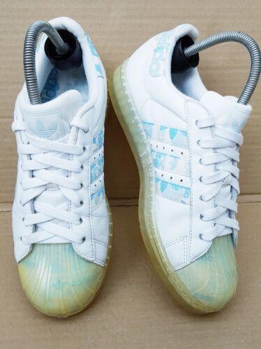 cheap for discount a3da1 49126 Uk Rare Adidas Superstar Tamaño 6 W y Clr Azul Blanco Trainers 5AL3j4R