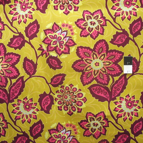 Joel Dewberry Heirloom HDJD15 Ornate Flora Gold Cotton HOME DECOR Sateen Fabric