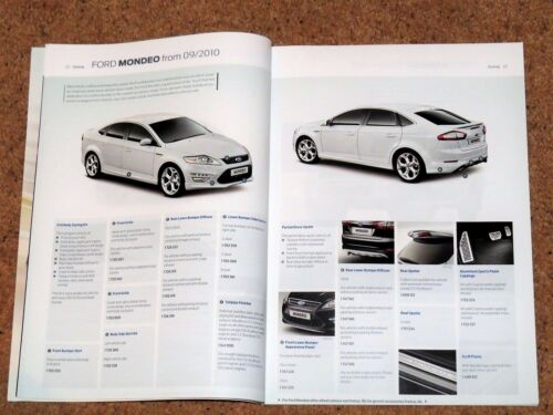 2012 FORD ACCESSORIES Brochure /& Price List Ka Fiesta Focus Mondeo Galaxy etc
