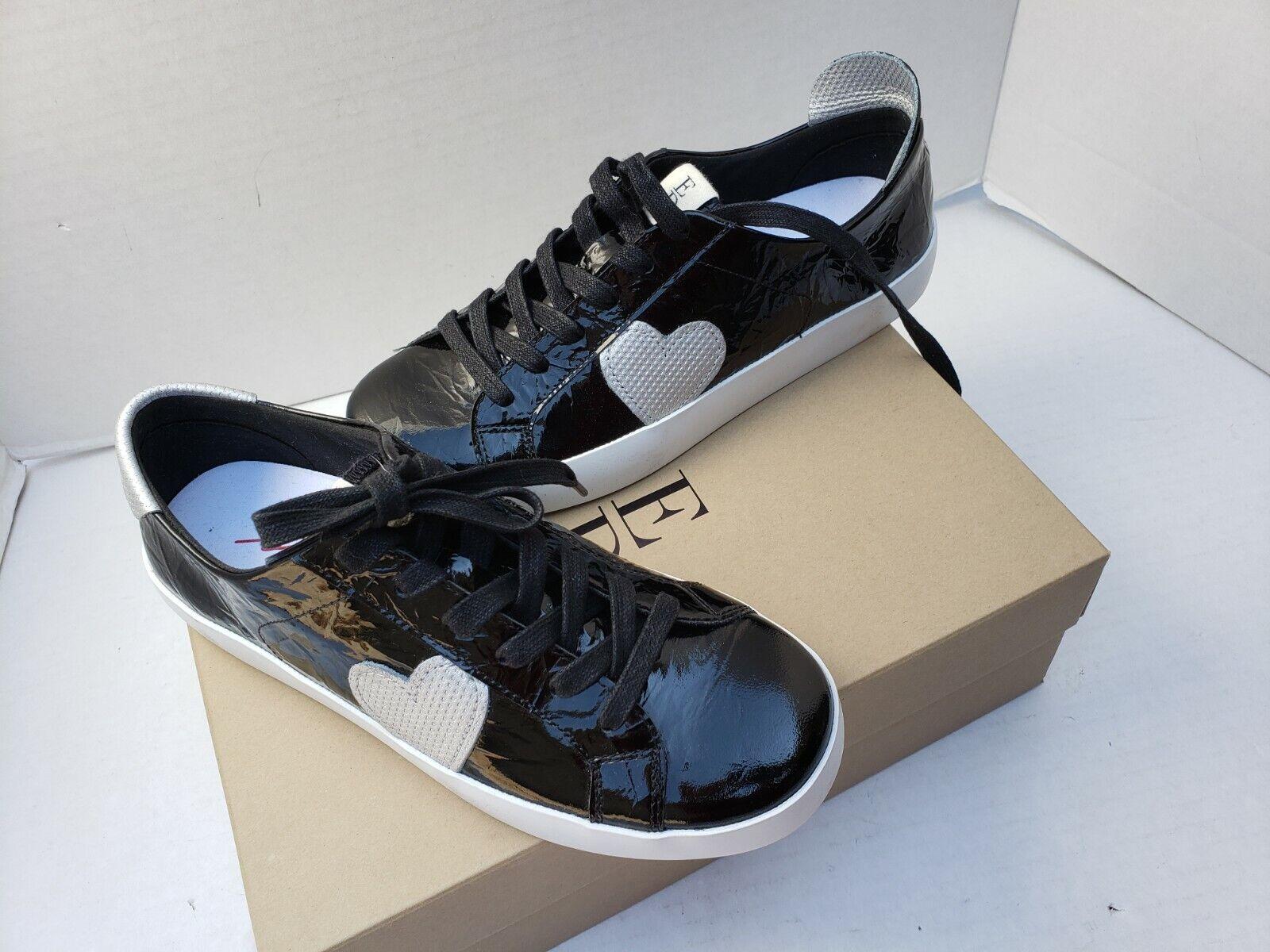 Ellen Degeneres ED scarpe nero Patent GILLEN Leather Lace Up  Heart argento 8.5  trova il tuo preferito qui