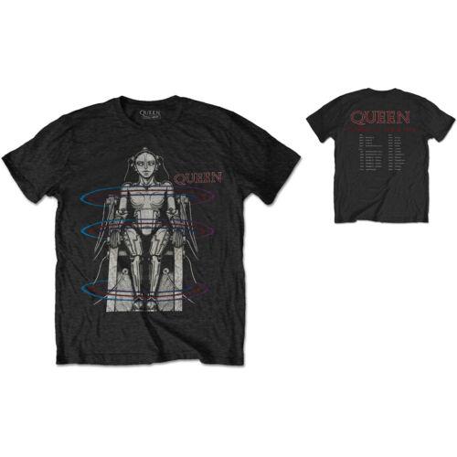 Bravado Mens Queen Concert T-Shirt Black Cotton 1984 Europe Tour Sizes  SM 2XL