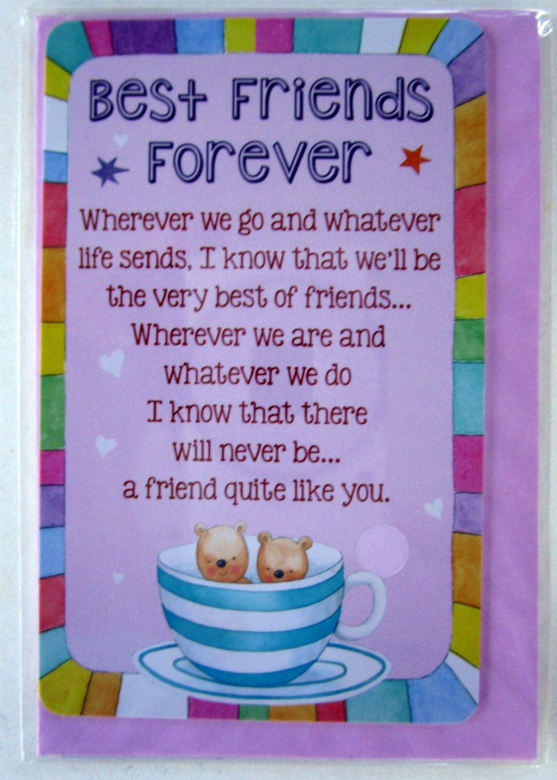 Heartwarmer Keepsake Card To My Special Sister With Sweet Verse Birthday Gift For Sale Online
