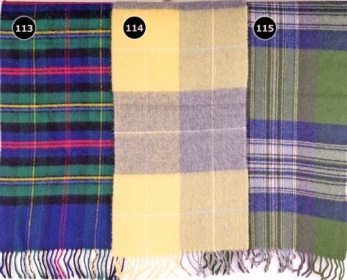 TARTAN SCARF Soft Touch Plaid Check Shawl Acrylic Wool Woollen Scotland 113-115