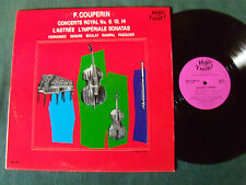 F COUPERIN CONCERTS ROYAL 6, 10, 14 - L'ASTREE  LP 33T  MUSIC GUILD MONO MG 108