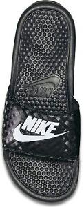 Nike-Femmes-Flops-eleve-Just-Do-It-Shower-Slide-Tongs-Noir