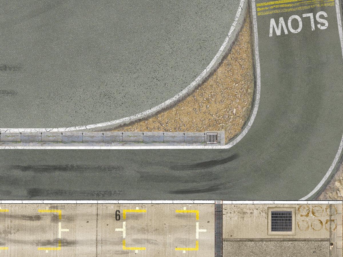 Dr  ft trayecto Arena 2,65m x1, 52m Circuit de Drift nuevo Wuhlheide Arena trayecto 290e32