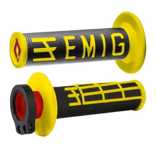 Black//Yellow ODI EMIG Lock-On 2T//4T MX Motocross Grips