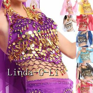 9-Colors-Belly-Dance-Costume-Handmade-Sexy-Bra-tops-with-Sequins-Beads-Bells