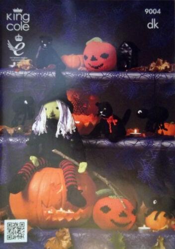 King Cole DK Motif de Tricotage Halloween Sorcière Citrouille chat SPIDER 9004