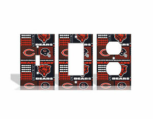 Image Is Loading Chicago Bears 2 Orange Light Switch Covers Football