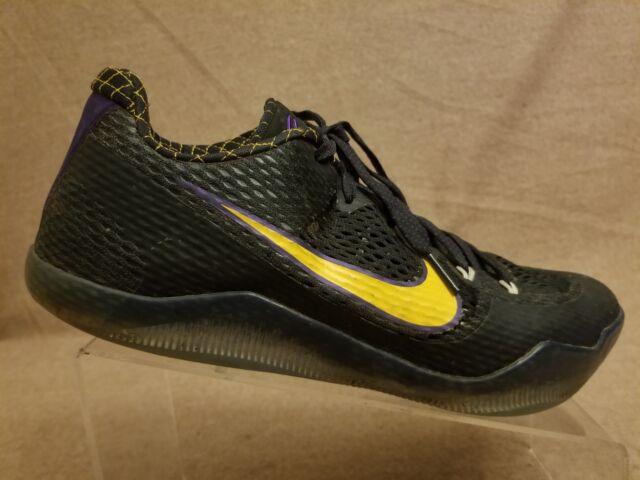 sports shoes df49b 5ca58 Nike 836183-015 Kobe XI 11 Carpe Diem Men Black Gold Athletic Shoes Size  10.5