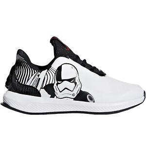 Dettagli su Adidas Performance Ragazzi Bambini Rapida Run Star Wars Scarpe Corsa Bianco