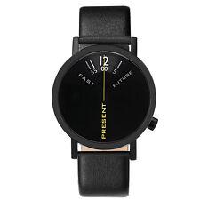 """Projects Watches """"Past, Present, Future Black"""" Acier Inox Noir Unisex Montre"""